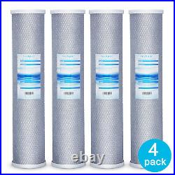 4 Packs Big Blue Whole House Carbon Block Replacement Water Filter 20 x 4.5