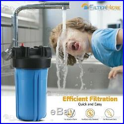 4 Stage Whole House Water Filter System with Patent Copper Zinc Media