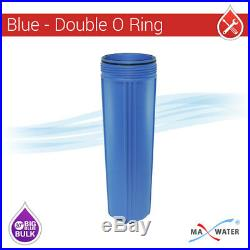 4 x 20 Big Blue Whole House Water System Filter Housing With Wrench and Bracket