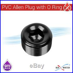 4 x 20 x4.5 BB Clear Whole House Filter Housing 1 Ports With Pressure Release