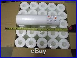 50 Sediment Water Filter Cartridges, Whole House, 9 7/8 x 2.5, 5 Micron