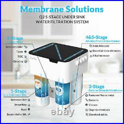 5Stage Water Purifier Filter 75G ReverseOsmosis Drinking Water Filtration System
