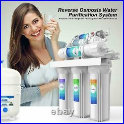 5/6 Stage Reverse Osmosis Drinking Water Filtration System Whole House Filter