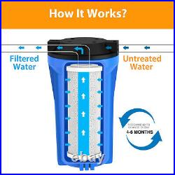 5 Micron 10x4.5 Carbon Block Water Filter Replacement Cartridge Whole House -8P