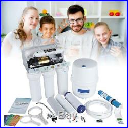 5 STAGE Whole House Drinking Water Filter System UV Reverse Osmosis Undersink