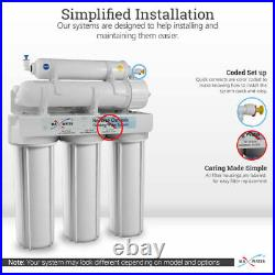 5 Stage Drinking Reverse Osmosis System +Designer Brushed Nickel +Filters 75 GPD