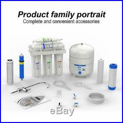 5 Stage Undersink Reverse Osmosis Water Filtration System 75 GPD Membrane Filter