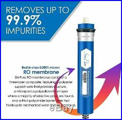 5 Stages Reverse Osmosis System 75GPD Whole House Water Filtration Solutions