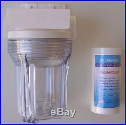 5 Whole House 1 clear stage filtration water system 3/4 port with PP Sediment