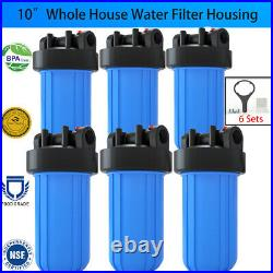 6Pack 10 Big Blue Water Filter Housing for Whole House Water Filtration System