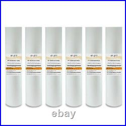 (6) Big Blue 20x 4.5 Whole House 5 Micron Sediment Water Filter