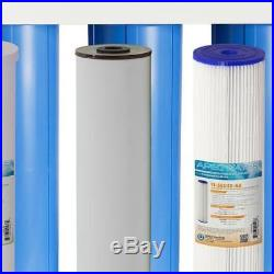 APEC Whole House 3 Stage Water Filtration System Filter Iron Sediment Chlorine