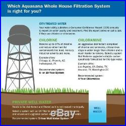 Aquasana 5-Stage 1,000,000 Gal Whole House Water Filtration Water Softener