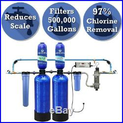 Aquasana 6-Stage 500k Gallon Whole House Well Water Filter System Softener with UV