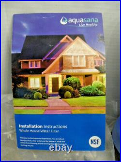 Aquasana EQ-1000 10-Year, 1,000,000 Gallon Whole House Water Filter Kit Only