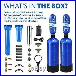 Aquasana EQ-WELL-UV-PRO-AST Whole House Well Water Filter System with UV Purifi