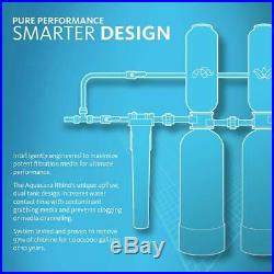 Aquasana Whole House Water Filter System With Salt-Free Conditioner- Filters Sedim