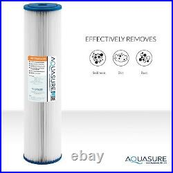 Aquasure Whole House Dual Stage Water Filter with Pleated Sediment & Carbon Block