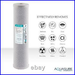 Aquasure Whole House Water Filter with 5 Micron Coconut Shell Carbon Block 20