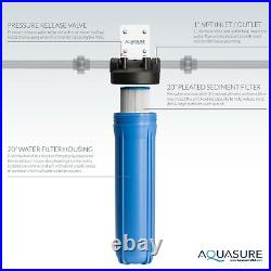 Aquasure Whole House Water Filter with Pleated Sediment Filter 20 30 micron