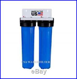 BIG BLUE 20 WATER FILTER SYSTEM 1 DUAL WHOLE HOUSE/COMMERCIAL