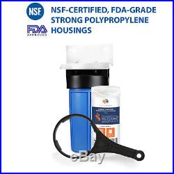 Big Blue 10 Whole House Water Filter System 1+ Bracket+ String Wound Sediment