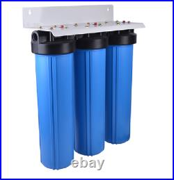 Big Blue 20 Water Filter System 1 Triple Whole House Iron Sulphur Rotten Egg