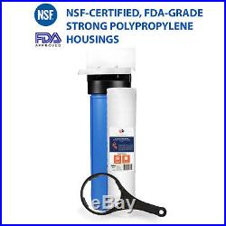 Big Blue 20 Whole House Water Filter System 1+ Bracket+ String Wound Sediment