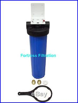 Big Blue 20 x 4.5 Water Filter Housing/Whole House 3/4 1 inch/wrench/bracket
