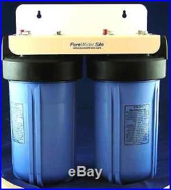Big Blue 4.5 x 10 Two Stage Filtration System, 1 Inlet, Whole House Filter