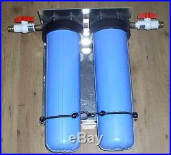 CLEARBROOK 2 STAGE WHOLE HOUSE WATER FILTER 20 dual filtration system big blue