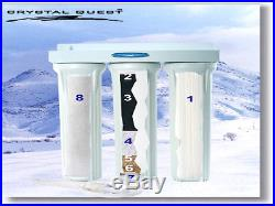 CRYSTAL QUEST 20 INCH WHOLE HOUSE WATER FILTER SYSTEM CQEWH01103