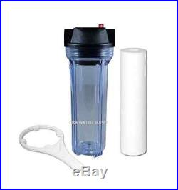 Clear 10 Filter Housing Whole House Water System 3/4 & Sediment, Wrench