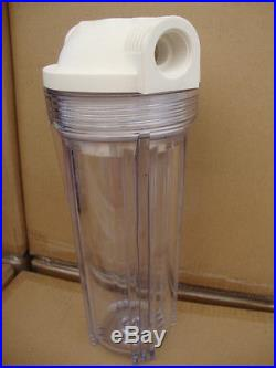 Clear 10 filter Housing with lid For whole House water System 3/4 port