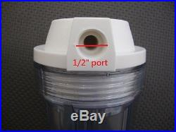 Clear 5 filter Housing with lid For whole House water System 1/2 port