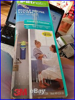 Filtrete Whole House Water Filter System, Large Capacity, 4WH-QCTO-S01/ open