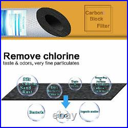 Geekpure Whole House PP Sediment Carbon Block Replacement Filter 5 Mic 4.5x10
