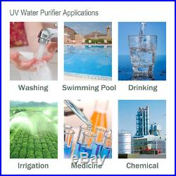 HQUA-OWS-12 Ultraviolet Water Purifier Sterilizer Filter for Whole House 12GPM +