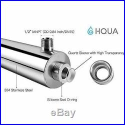 HQUA-OWS-6 Ultraviolet Water Purifier Sterilizer For Whole House, 6GPM 110V UV