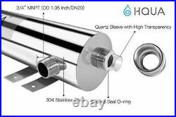 HQUA-TWS-12 Ultraviolet Water Purifier Sterilizer Filter for Whole House Wate