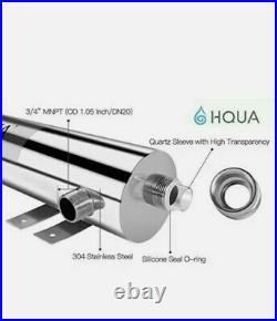 HQUA-TWS-12 Ultraviolet Water Purifier Sterilizer Filter for Whole House Water