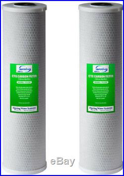 High Capacity 4.5 in. X 20 in Big Blue Whole House Water Filter CTO Carbon Block