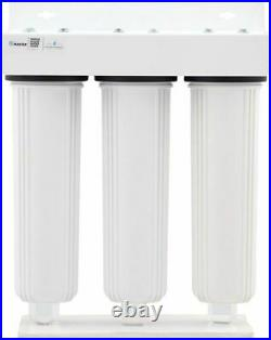 Home Master Whole House Three Stage Water Filtration System with Pack of 1 New