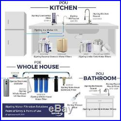 ISPRING WGB22B 2-Stage 100k Gal. Whole House Water Filter System w Big Blue