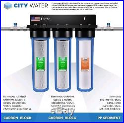 ISpring Big Blue 3 stage 20 inch Whole House Water Filter System