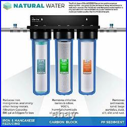 ISpring F3WGB32BM 4.5 x 20 3-Stage Whole House Water Filter Set Replacement