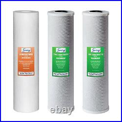 ISpring F3WGB32B 3-Stage 20 inch 3-Piece Whole House Replacement Water Filter