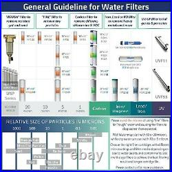 ISpring F4WGB22B 4.5 x 20 2-Stage Whole House Water Filter Replacement Set