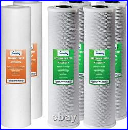 ISpring F6WGB32B 4.5 x 20 Whole House Water Filter Replacement Set