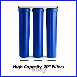 ISpring WCB32O 3-Stage Whole House Water Filtration System with 20 x 2.5 Over